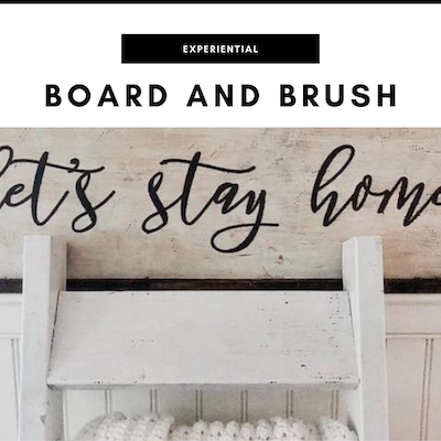 Board and Brush painting parties - Nashville, TN Local Gifts
