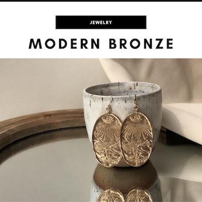 Modern Bronze jewelry - Nashville, TN Local Gifts