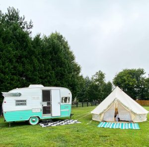 The Flying Ham travel trailer rentals and glamping bell tents in Nashville, TN