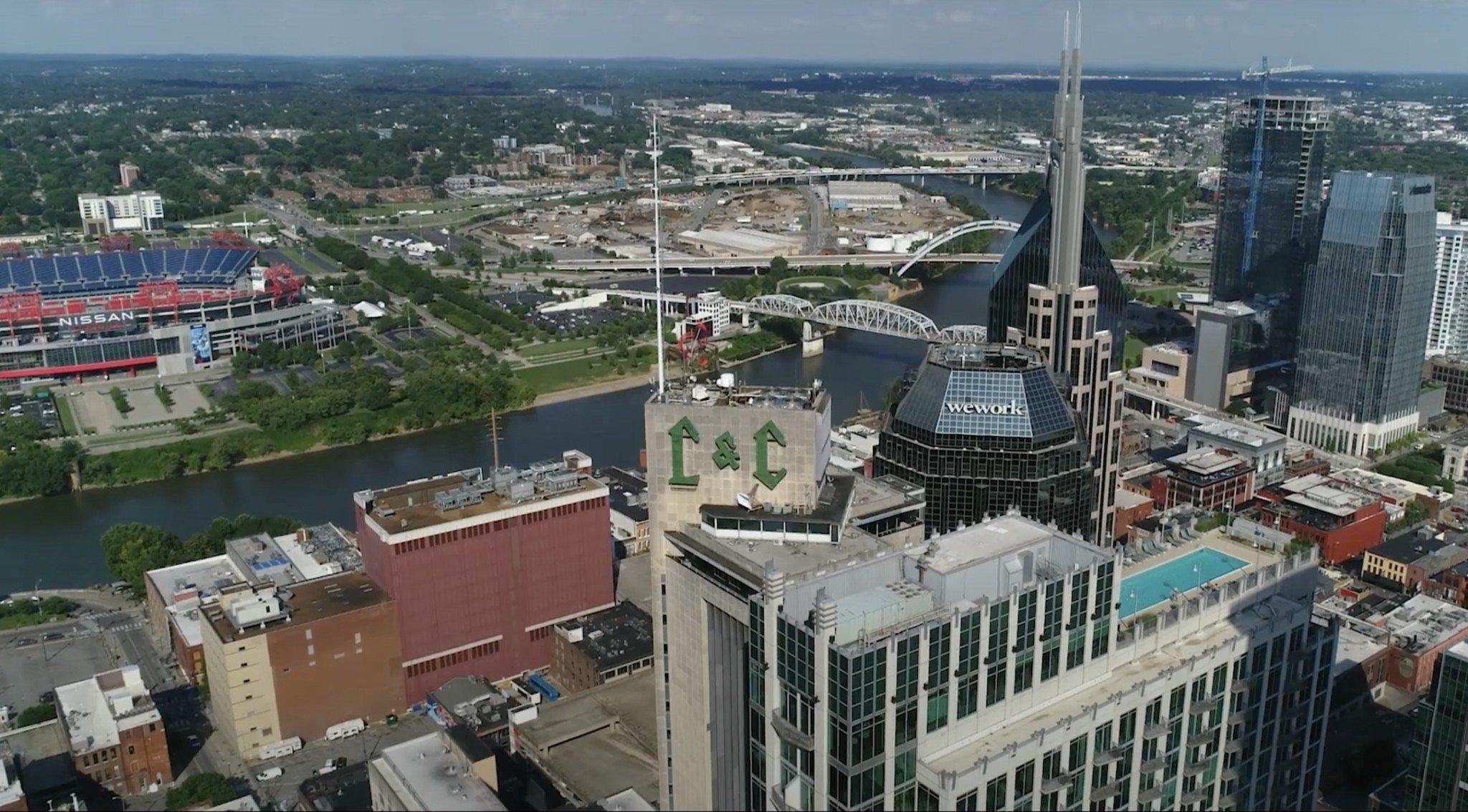 View from Viridian condos Nashville, TN